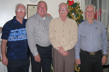 Dick, Jack, Bob and Don Russell, Dec. 2004
